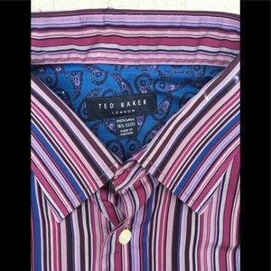 Ted Baker London Shirts - Ted Baker Mens 161/2 32/33 Button Shirt